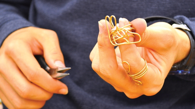 Donald Claflin Jewelry Studio at the Hop